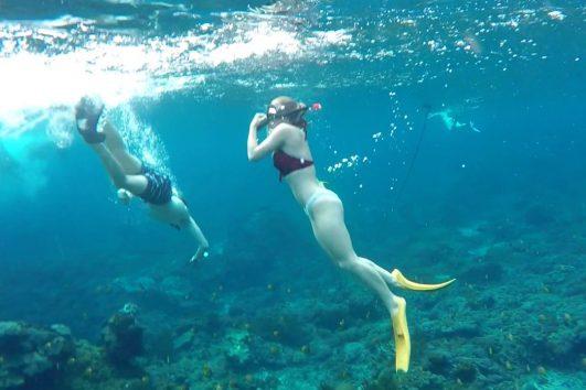snorkeling in bali - ahmed location