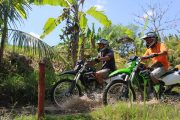 bali-dirt-bike-tour on our motorcross bikes thorugh Bali's jungles