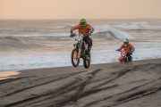 race down the beach on the tabanan beach motor bike tour