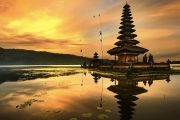 Balinese ancient culture can be seen at beratan lake temple
